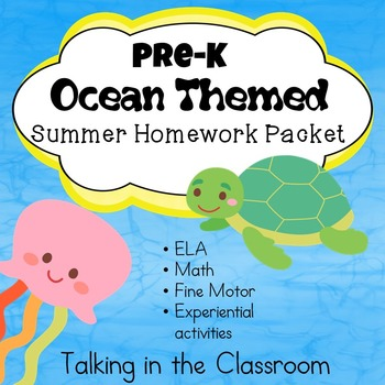PreK OCEAN THEMED SUMMER PACKET