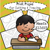PreK Pages for Cutting & Tracing Scissor Skills Cutting Practice