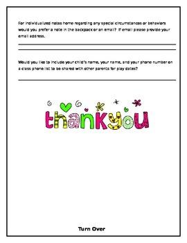 PreK Parent Questionnaire
