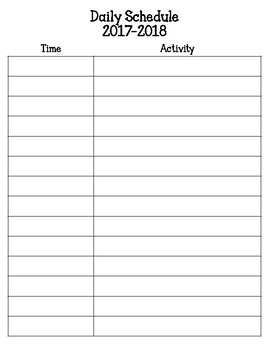 PreK Planning Pages