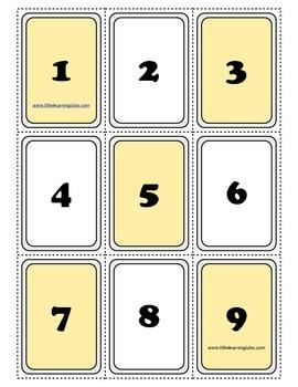 PreK Primary Kindergarten Even and Odd Numbers Cards 0-99