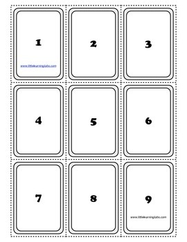 PreK Primary Kindergarten Number Word, Numbers, Pictures Matching Card Set 0-26