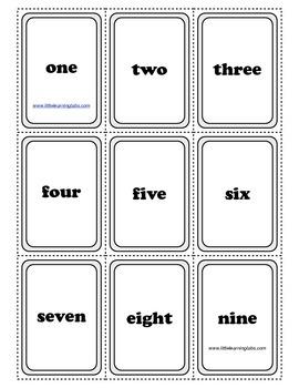 PreK Primary Kindergarten Number Word, Numbers, Pictures Matching Card Set