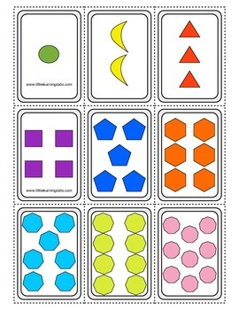 PreK Primary Kindergarten Number Word, Numbers, Pictures M