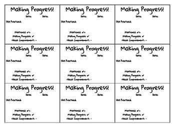 PreK Progress Report