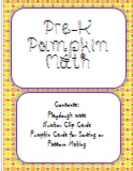 PreK Pumpkin Math