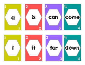 PreK Sight Word UNO