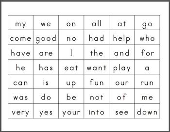 PreK Sight Words for Workstations and more!