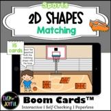 PreK Sports Math Boom Cards™ |  2D Shapes Boom Cards™: Matching
