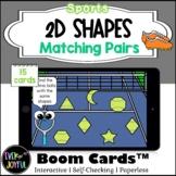 PreK Sports Math Boom Cards™ |  2D Shapes Boom Cards™: Mat