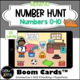 PreK Sports Math Boom Cards™ |  Number Hunt Boom Cards™: 0-10
