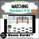 PreK Sports Math Boom Cards™ |  Number Matching Boom Cards™: 0-10