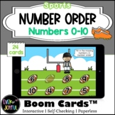 PreK Sports Math Boom Cards™ |  Number Order Boom Cards™: 0-10