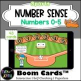 PreK Sports Math Boom Cards™ |  Number Sense Boom Cards™: 0-10