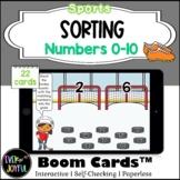 PreK Sports Math Boom Cards™ |  Number Sorting Boom Cards™: 0-10