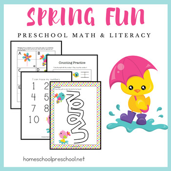 Spring Fun Early Learning Activity Pack