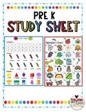 PreK Study Sheet