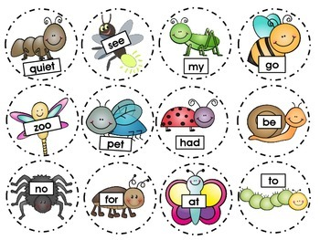 "PreK ""Swat""- Buggy Sight Words and Letter Identification"