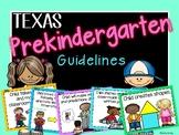 PreK Texas Guideline Posters *Editable*
