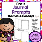 PreK Writing Journal: Themes & Holidays!