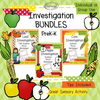 PreK and K Science - Hands On Investigations: Apple, Corn, Leaf