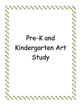 PreK and Kindergarten Art and Artist Actvities