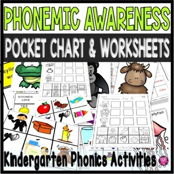 Phonemic Pocket Chart Centers and Activities for PreK and Kindergarten