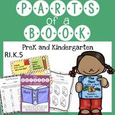 Parts of a Book - PreK and Kindergarten