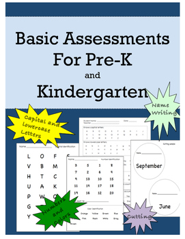 PreK and Kindergarten Simple Assessments