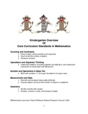PreK and Kindergarten Strategies to Teach Common Core Math