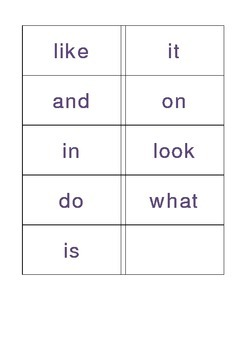 PreK sight words