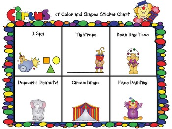 PreK/Kinder Circus of colors and shapes