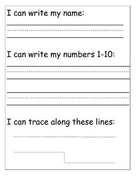PreK/Kindergarten Letter & Number Assessment