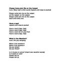 PreK/Primary Meeting Time Songs