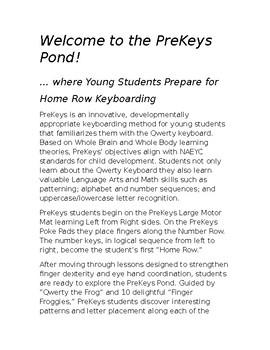 PreKeys Introduction Lesson Plans