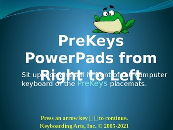 PreKeys 05 PowerPads from Right to Left