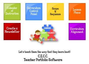 PreKindergarten - 5th Grade: CECC Teacher Portfolio Software $0.25 3 Day TRIAL
