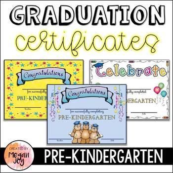 PreKindergarten Graduation Certificates & Invitations