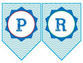 PreKindergarten or Kindergarten Pennant Banner