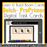 PrePrimer Dolch BUILD Sight Word Boom Cards