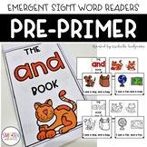 PrePrimer Dolch Emergent Sight Word Reader Books | Distanc