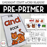 PrePrimer Dolch Emergent Sight Word Reader Books   Distanc