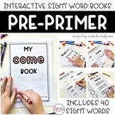 PrePrimer Dolch Sight Word Activity Books Printable Worksh
