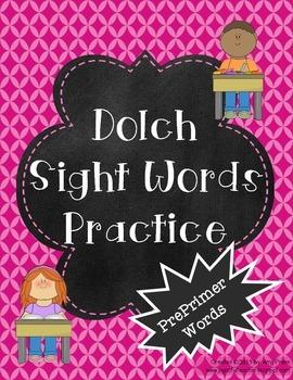 PrePrimer Dolch Words Practice