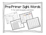PrePrimer Sight Word Activities