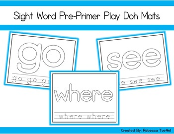 Sight Word Play Doh Mats: PrePrimer