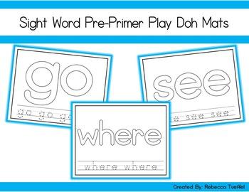 PrePrimer Sight Word Play Doh Mats