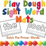 PrePrimer Sight Word Play Dough Mats Center Activity -OR-