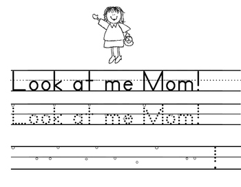 PrePrimer Sight Word Sentences to trace, build and write