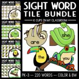 PrePrimer Sight Word Tiles:  Rainforest Animal Clip Art BUNDLE!